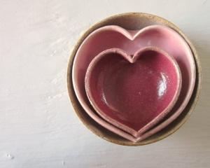 Nested Pottery Bowls $32 JDWolfePottery
