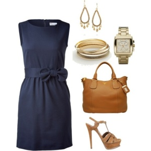 This dress is both classy and cute, and perfect for either the office or dress-up.  Navy is also an alternative to black when you need something conservative.