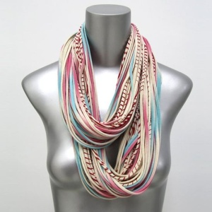 CIJ Christmasinjuly Pink Blue Organic Infinity Scarf by Necklush, $74.00